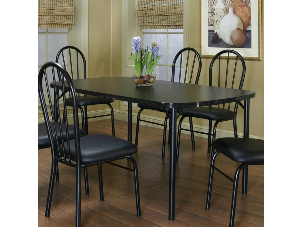 Shown with Black Texture/Black Vinyl Side Chairs