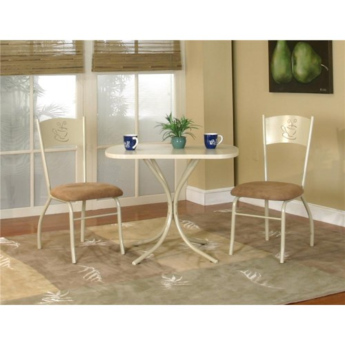 Cramco, Inc Cramco Dinettes - Mocha Rectangular Laminate Table with Smoke Sensation Chairs
