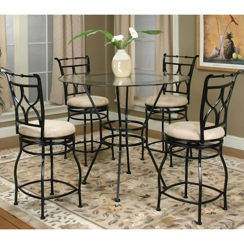 Cramco, Inc Cramco Trading Company - Starling 5 Piece Pub and Stool Set