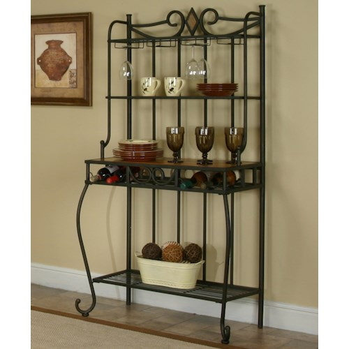 Cramco, Inc Cramco Trading Company - Dart Baker's Rack with Slate Inlay