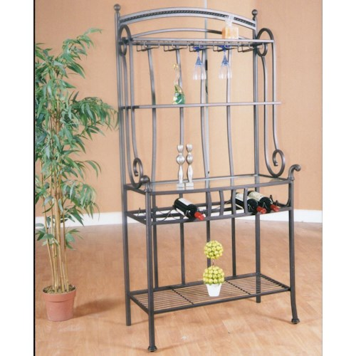 Cramco, Inc Marissa Molten Earth/Glass Baker's Rack