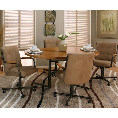 Cramco, Inc Cramco Motion - Dillon  Oval Table w/ Swivel Chairs