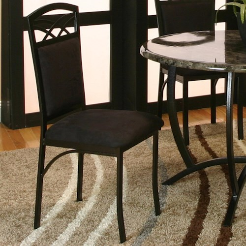 Cramco, Inc Electra Side Chair w/ Black Microsuede Upholstery