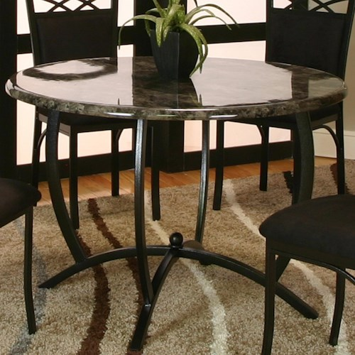 Cramco, Inc Electra Round Table w/ Faux Marble Top