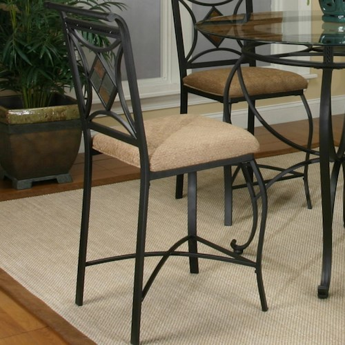 Cramco, Inc Cramco Trading Company - Glendale  Metal Barstools w/ Upholstered Seat