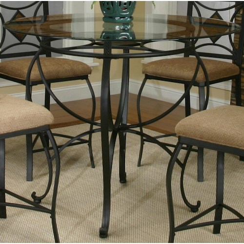 Cramco, Inc Cramco Trading Company - Glendale  Metal Round Pub Table