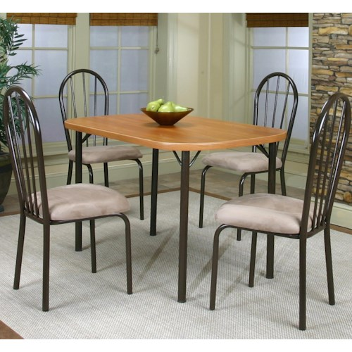 Cramco, Inc Cramco Dinettes - Heath 5 Piece Table and Side Chairs Set