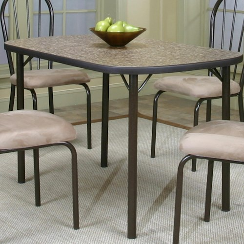 Cramco, Inc Cramco Dinettes - Heath Granite Laminate Top Table