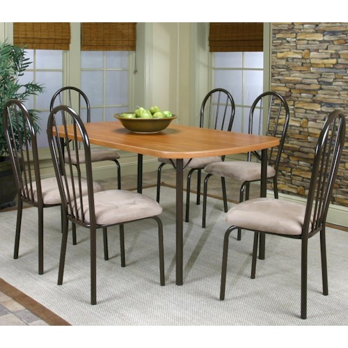 Cramco, Inc Cramco Dinettes - Heath 7 Piece Leg Table and Side Chair Set