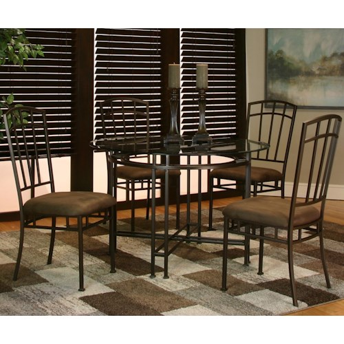 Cramco, Inc Ivana 5 Piece Dining Table and Chair Set