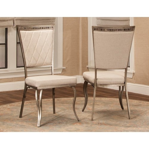 Cramco, Inc Jamison Dining Side Chair with Upholstered Seat