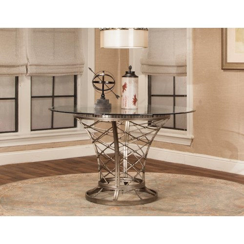 Cramco, Inc Jamison Glass Top Round Dining Table