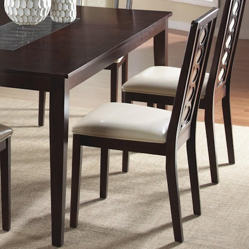 Cramco, Inc Jasmyn Side Chair w/ Polyurethane Camel Upholstery (RTA)