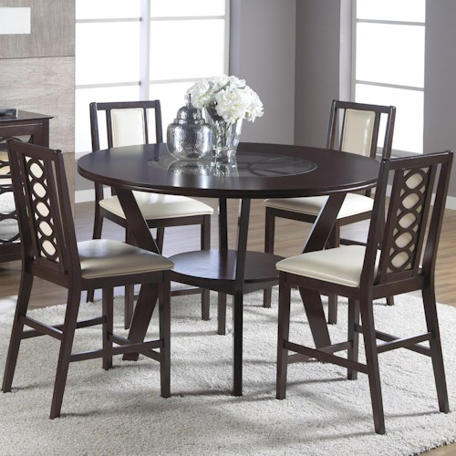 Cramco, Inc Jasmyn 5 Piece Counter Height Table Set