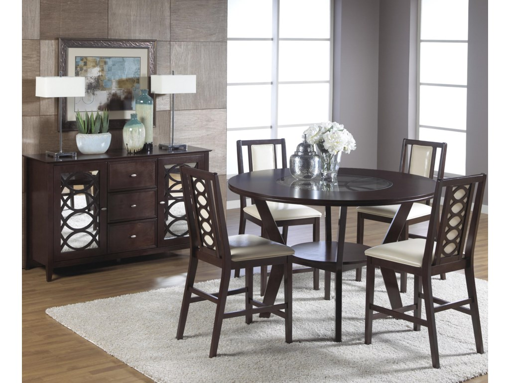 Shown in Room Setting with Stools and Sideboard