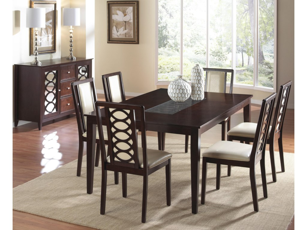Shown in Room Setting with Table and Side Chairs