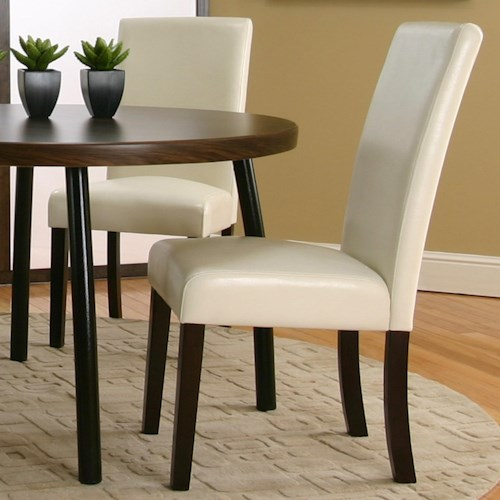 Cramco, Inc Contemporary Design - Kemper Upholstered Parson's Side Dining Chair