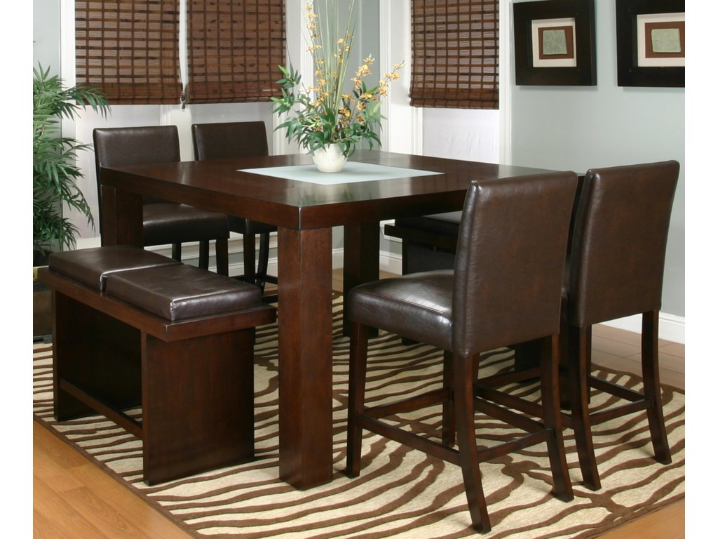 Shown with Cordovan Counter Benches and Stools