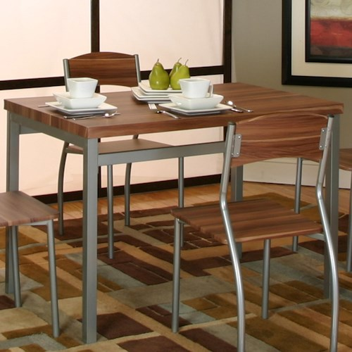 Cramco, Inc Lark Platinum/Acacia Veneer Table