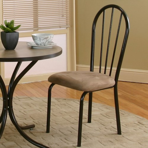 Cramco, Inc Linen Microsuede Dining Side Chair in Java/Cappacino