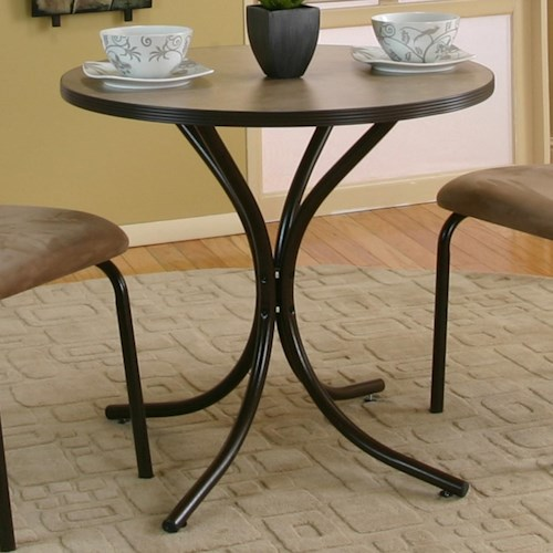 Cramco, Inc Linen Round Beige Linen Laminate Top Table