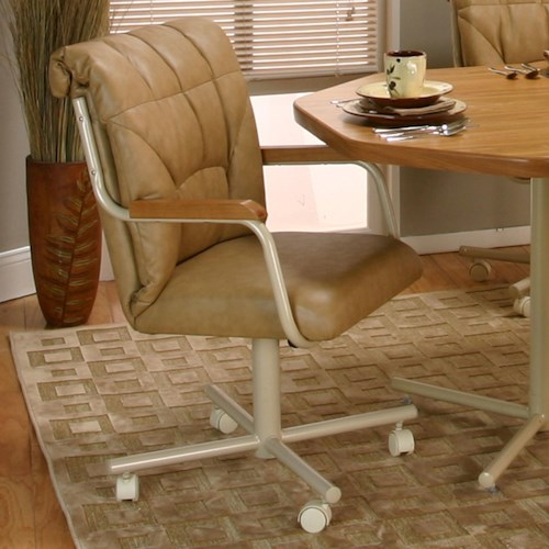 Cramco, Inc Cramco Motion - Marlin Tilt-Swivel Dining Chair with Casters
