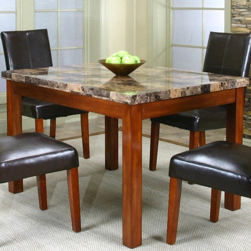Cramco, Inc Cramco Trading Company - Mayfair  Contemporary Dinner Table w/ Faux Marble Table