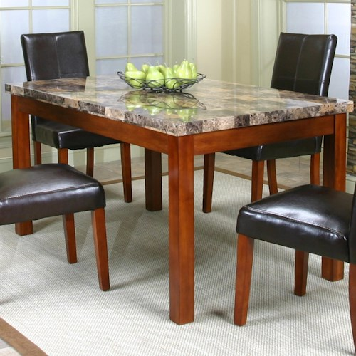 Cramco, Inc Cramco Trading Company - Mayfair  Rectangular Casual Table w/ Faux Marble Top