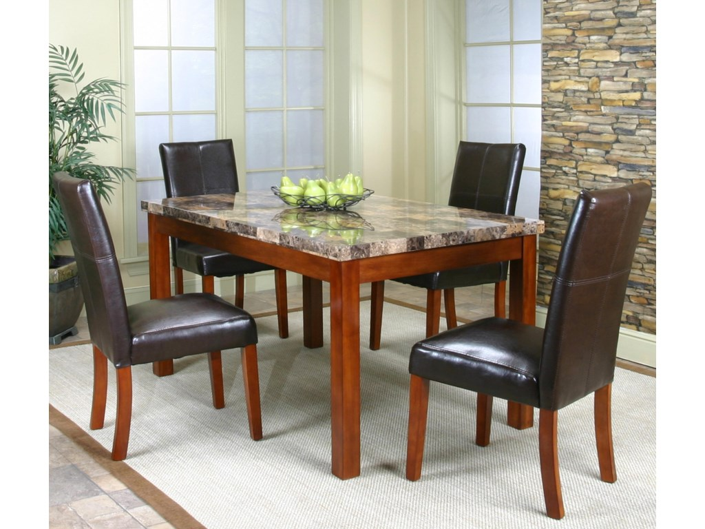 Table Shown with Parson's Chairs