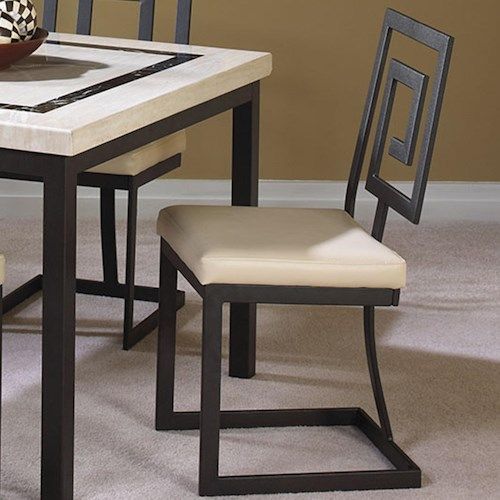 Cramco, Inc Maze Side Chair w/ Upholstered Seat