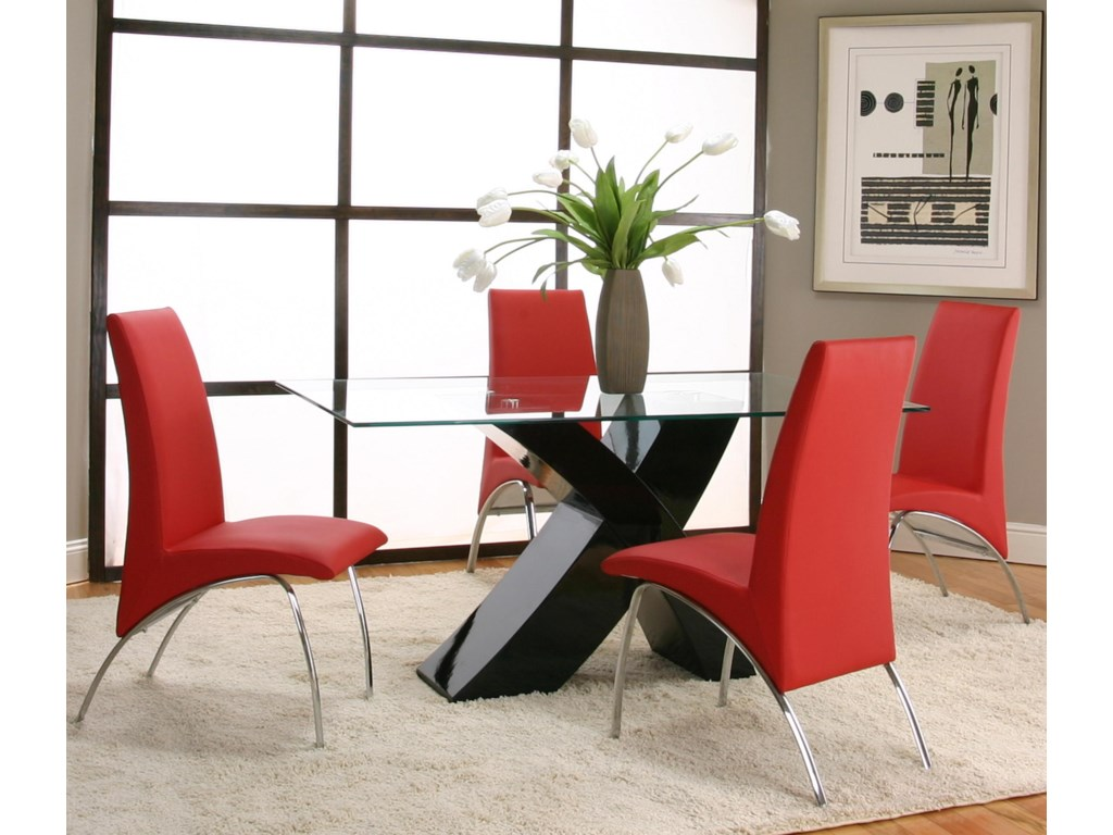 Shown with Red Chairs