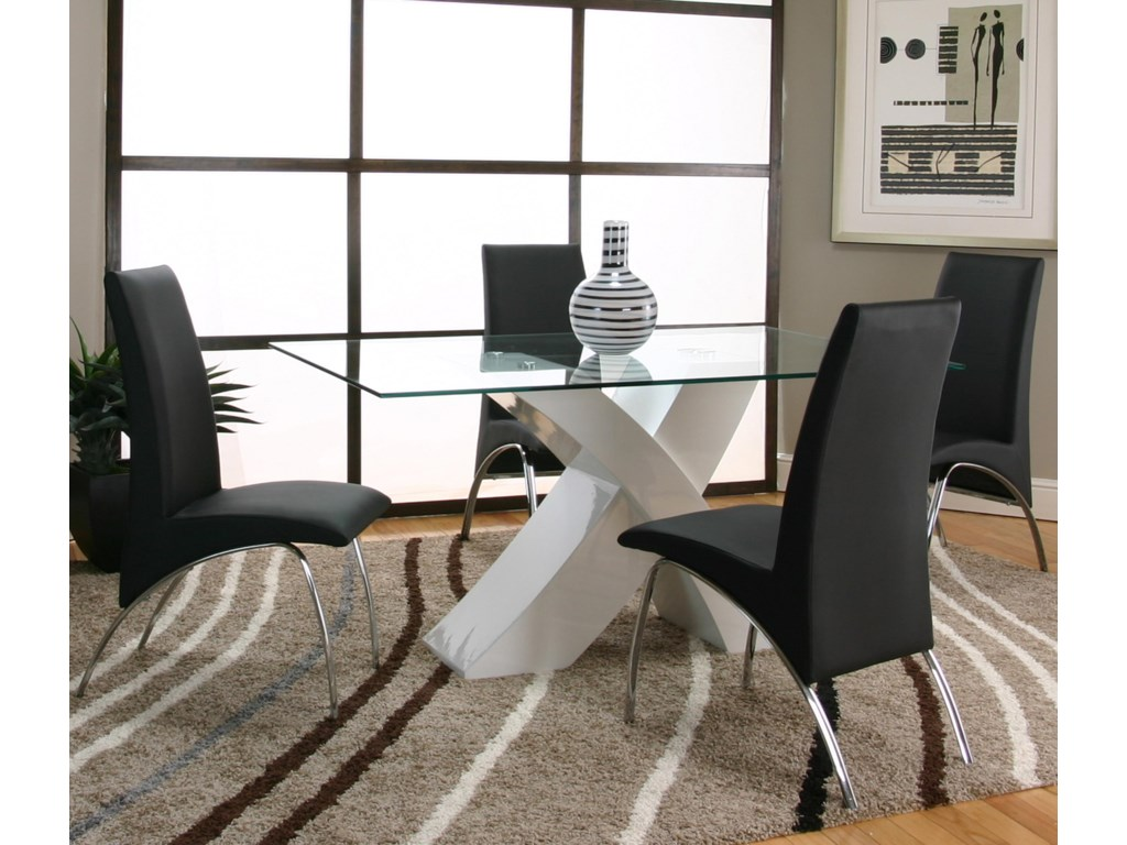 Shown with Black Side Chairs