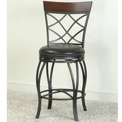 Cramco, Inc Monza Bar Swivel Stool with Curved Legs
