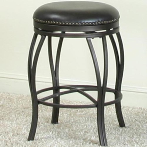 Cramco, Inc Monza Swivel Bar Stool with Nail Head Trim