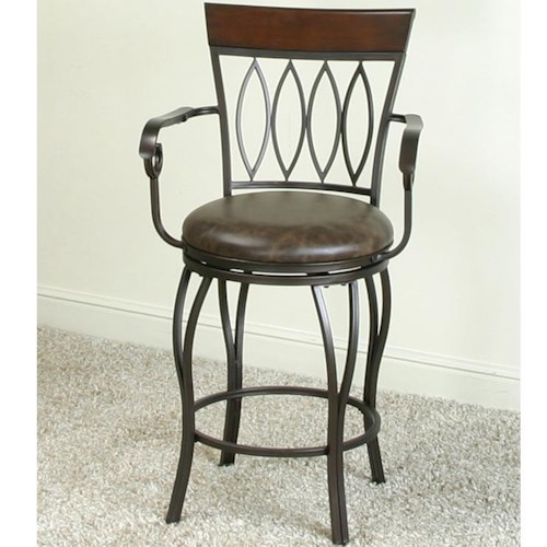 Cramco, Inc Monza Bar Swivel Stool with Oval Design