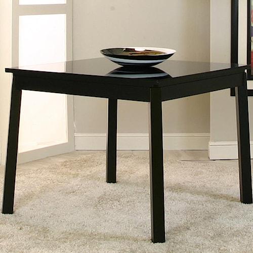 Cramco, Inc Nicole Square Wood Bar Table w/ Glass Top