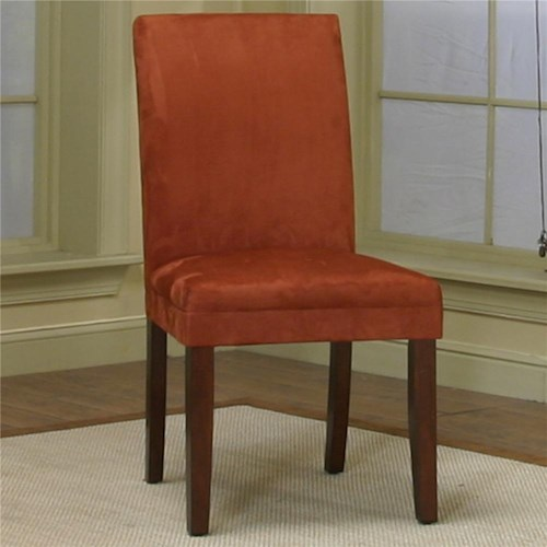 Cramco, Inc Contemporary Design - Parkwood Dining Side Chair with Brick Micro-Suede Fabric