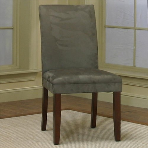 Cramco, Inc Contemporary Design - Parkwood Dining Side Chair with Sage Micro-Suede Fabric