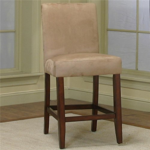 Cramco, Inc Contemporary Design - Parkwood Counter Height Dining Chair with Stone Micro-Suede Fabric