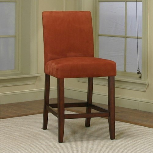 Cramco, Inc Contemporary Design - Parkwood Counter Height Dining Chair with Brick Micro-Suede Fabric