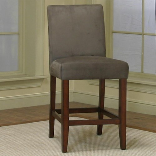 Cramco, Inc Contemporary Design - Parkwood Counter Height Dining Chair with Sage Micro-Suede Fabric