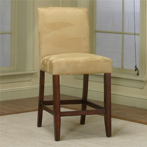 Cramco, Inc Contemporary Design - Parkwood Counter Height Dining Chair with Wheat Micro-Suede Fabric