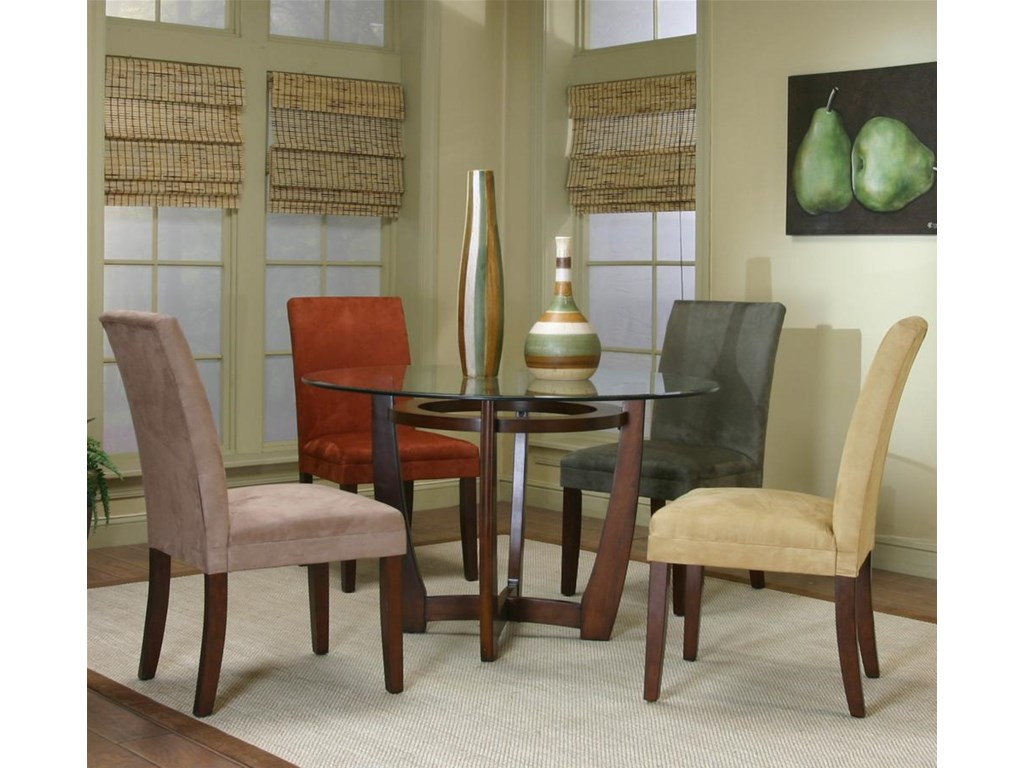 Shown with Dining Side Chairs in Different Fabric Options