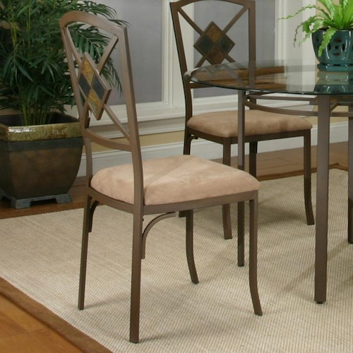 Cramco, Inc Cramco Trading Company - Piazza  Metal Side Chair w/ Upholstered Seat