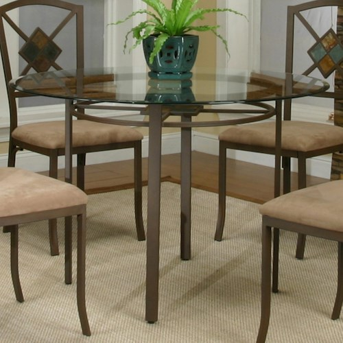 Cramco, Inc Cramco Trading Company - Piazza  Round Metal Table w/ Glass Top