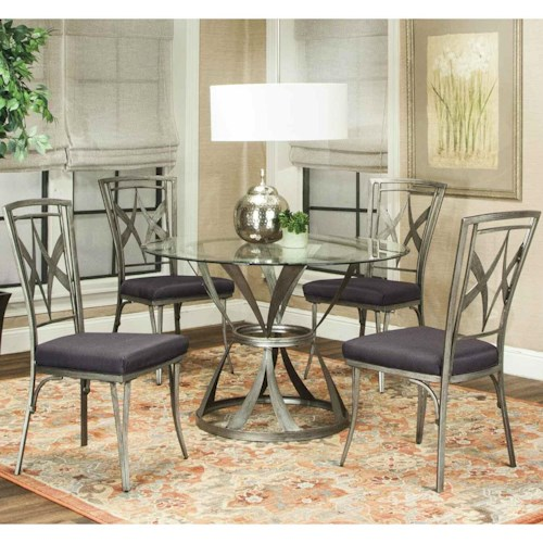 Cramco, Inc Pierce 5 Piece Table and Chair Set with Diamond Motif
