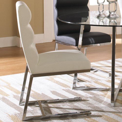 Cramco, Inc Polaris Side Chair w/ Polyurethane Upholstery