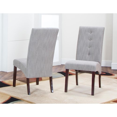 Cramco, Inc Sienna Dining Parsons Side Chair with Upholstered Seats
