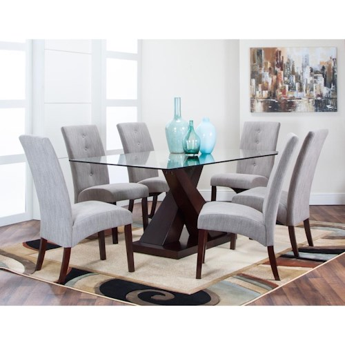 Cramco, Inc Sienna 7 Piece Dining Set