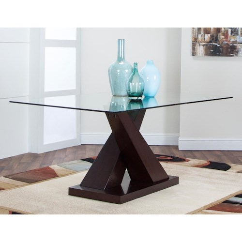 Cramco, Inc Sienna Pedestal Dining Table with Glass Top